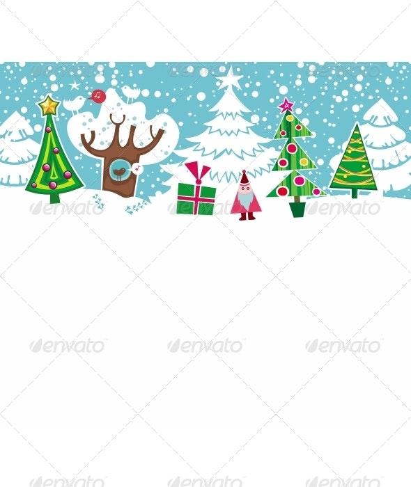 Cartoon Christmas card.  - Christmas Seasons/Holidays