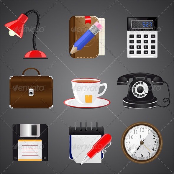 Collection of Realistic Icon, Vector - Web Technology