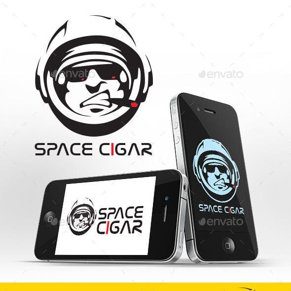 Space Cigar Logo Template