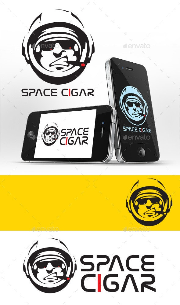 Space Cigar Logo Template - Humans Logo Templates