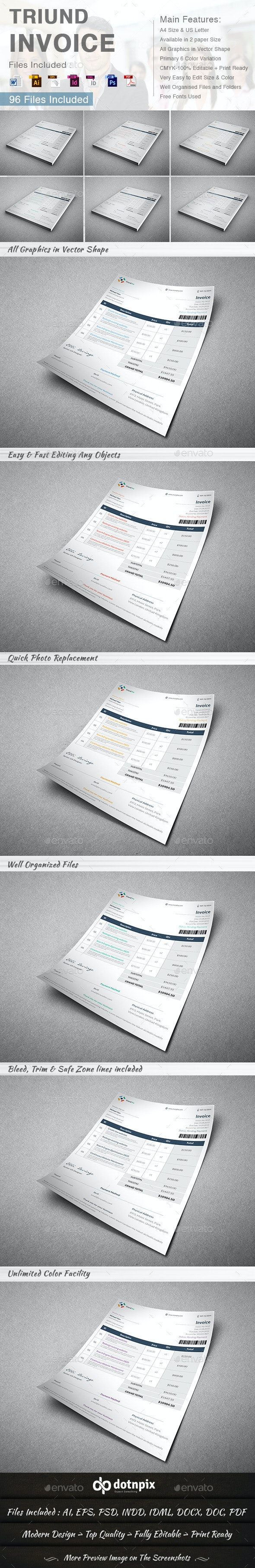 Triund Invoice - Proposals & Invoices Stationery
