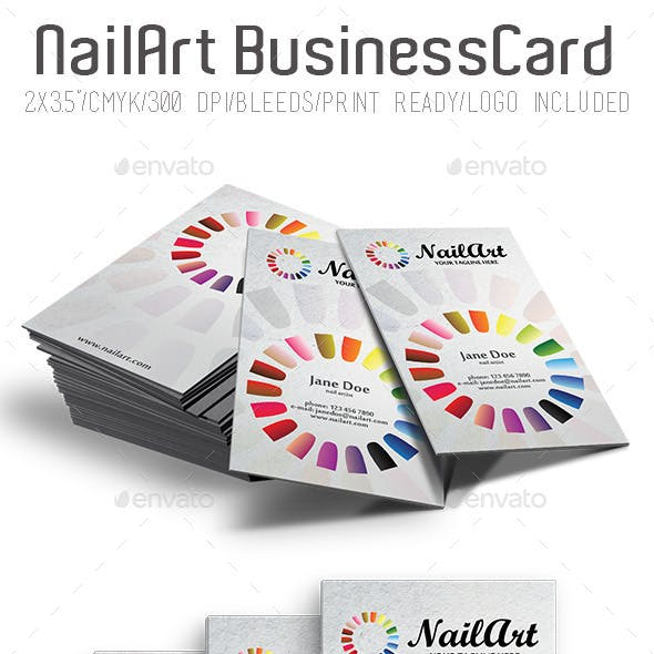 NailArt Business Card