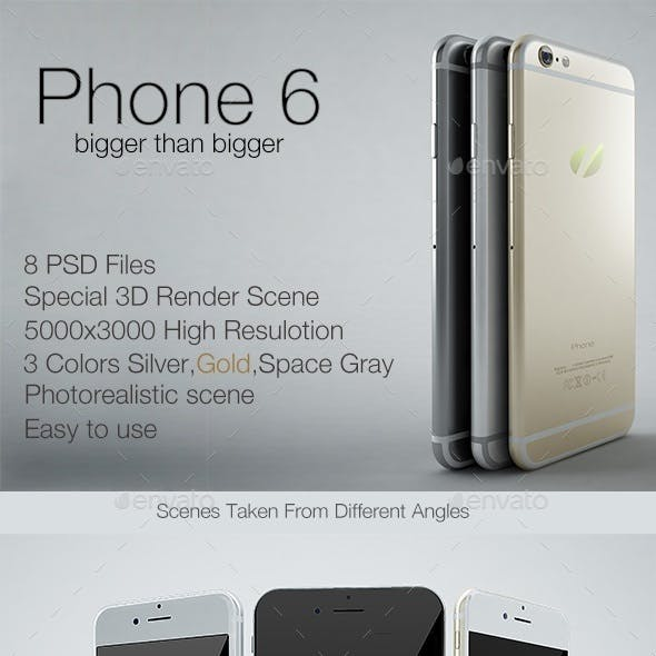 Phone 6 Photorealistic Mock-up