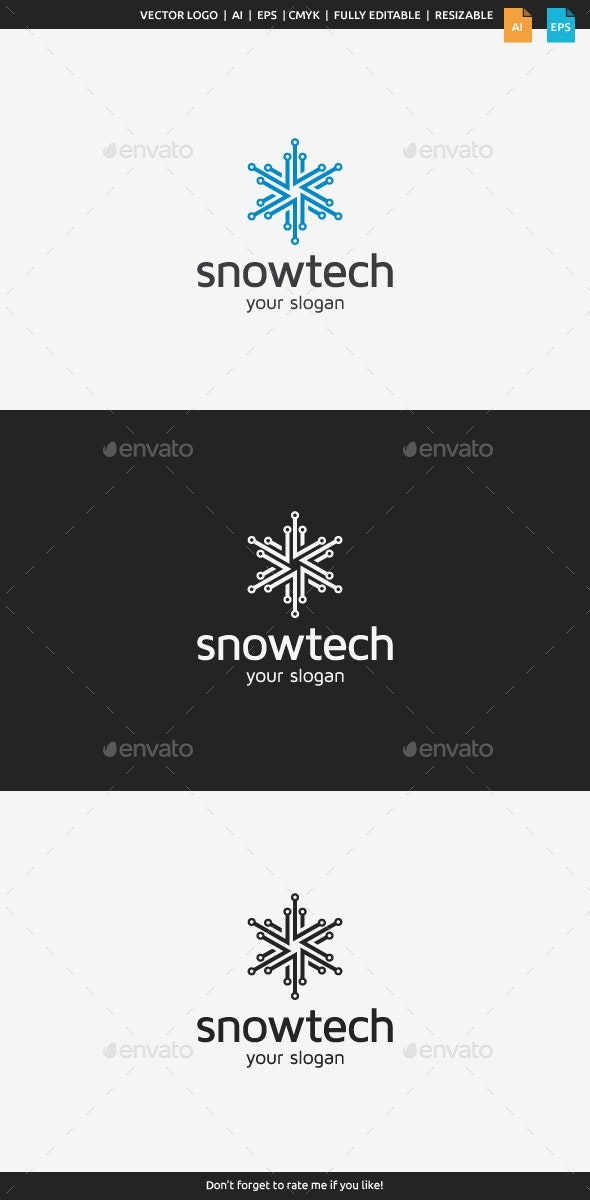 Snow Tech Logo - Symbols Logo Templates