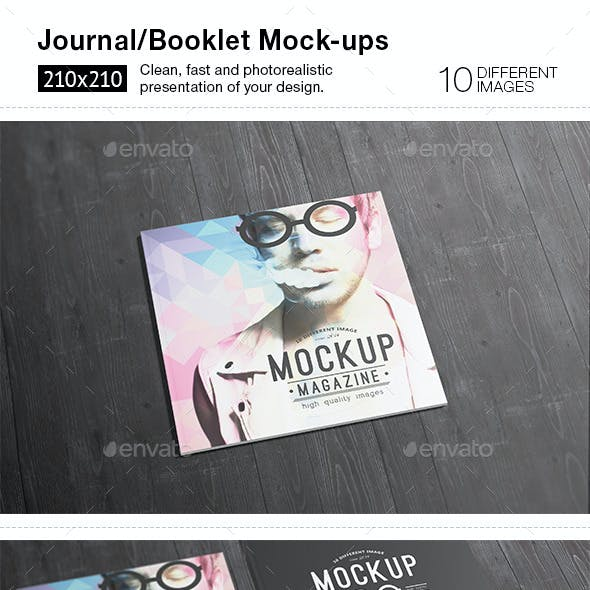 10 Square Magazine / Brochure Mock-ups