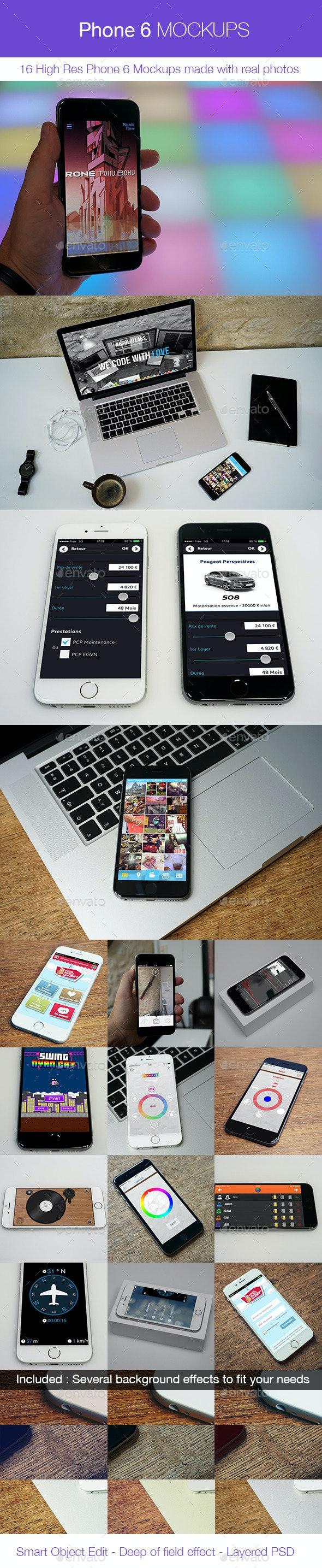 Phone 6 Mockups - 16 Phone 6 Real Photos Mockups - Mobile Displays