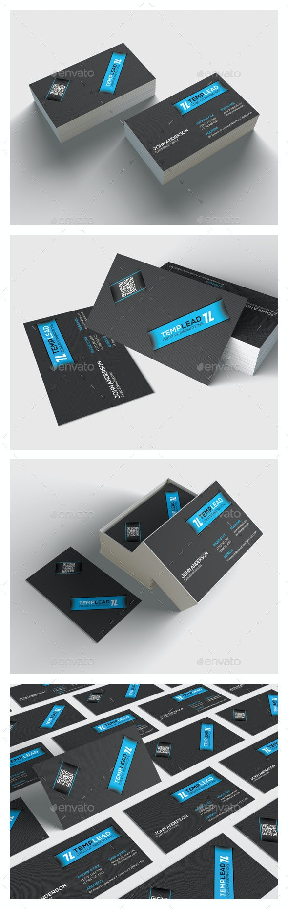 Modern Corporate Business Card HP0029 - Creative Business Cards