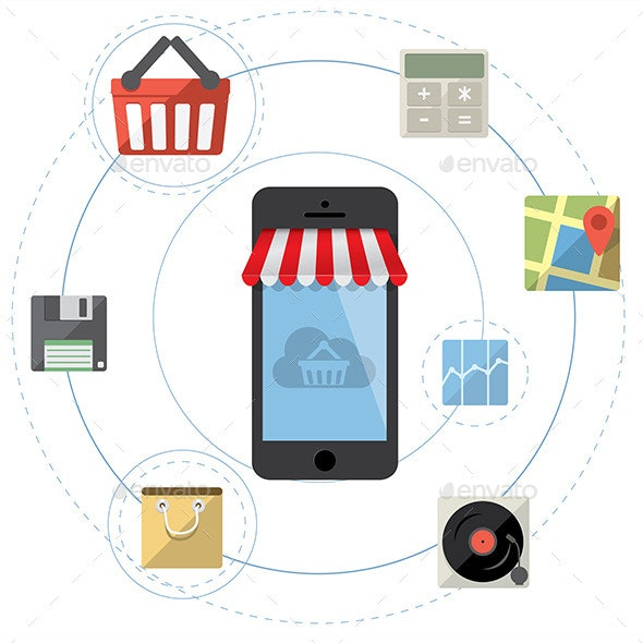 Smartphone as Online Store - Retail Commercial / Shopping