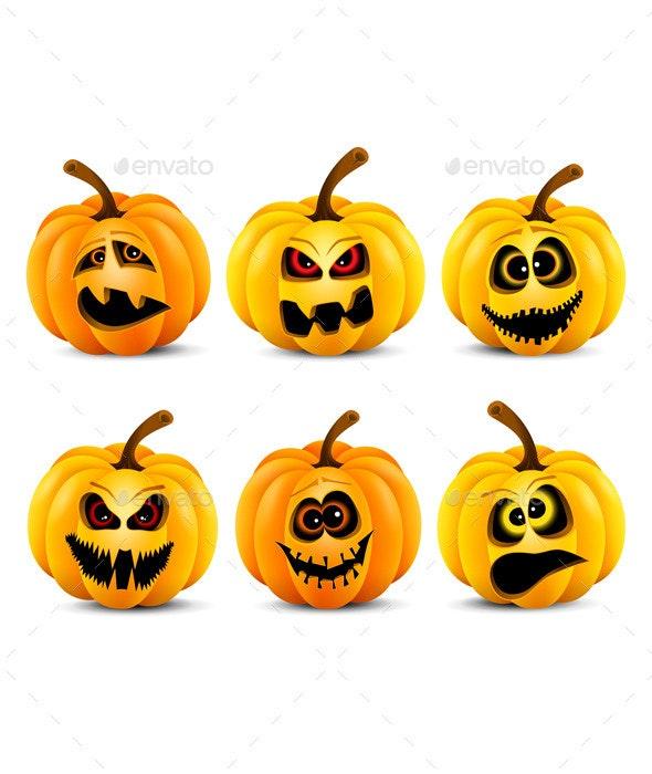 Isolated Pumpkins - Halloween Seasons/Holidays