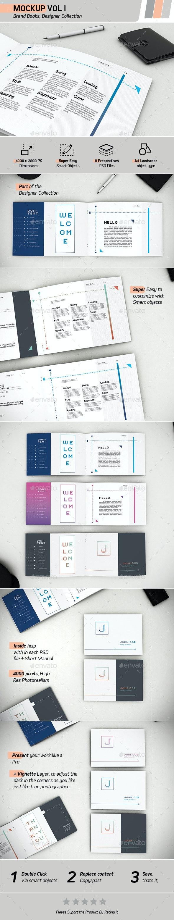 Mockup Vol 1 - Brand Books - Books Print