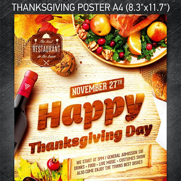 Thanksgiving Day Party Poster