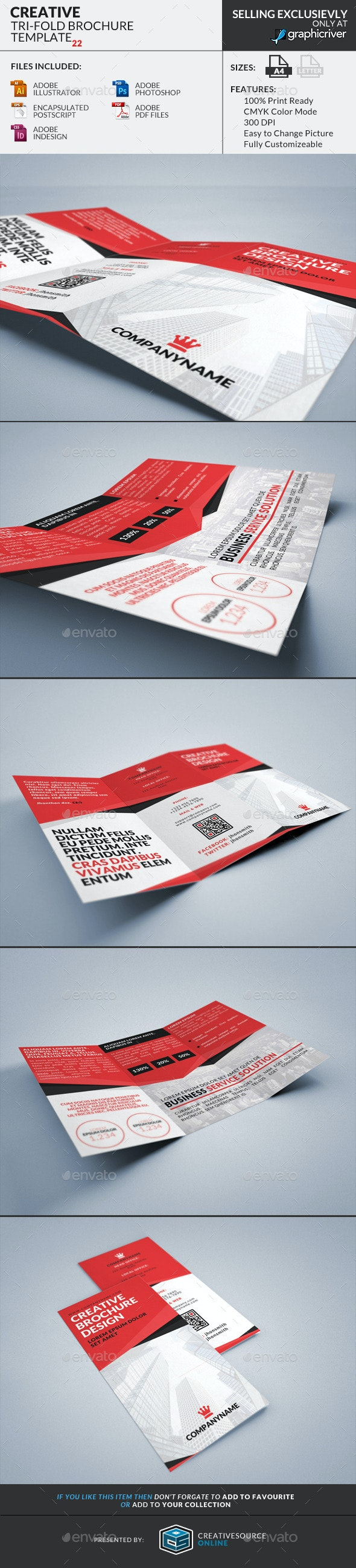 Trifold Brochure 22 : Creative  - Corporate Brochures