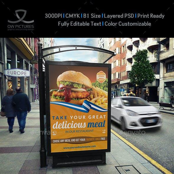 Burger Restaurant Poster Template Vol.2