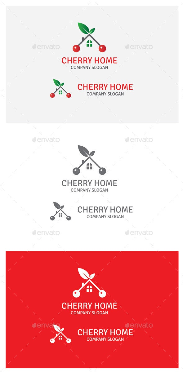 Cherry Home - Abstract Logo Templates