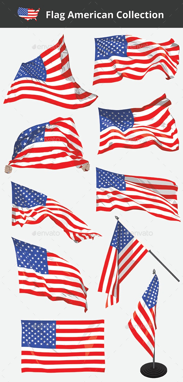 Flag American Collection - Decorative Vectors