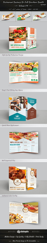 Restaurant Business Bi-Fold Brochure Bundle   v4 - Corporate Brochures