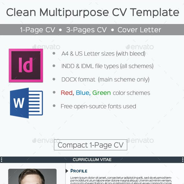 Clean Multipurpose CV Template