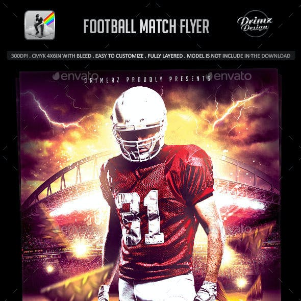 Football Match Flyer