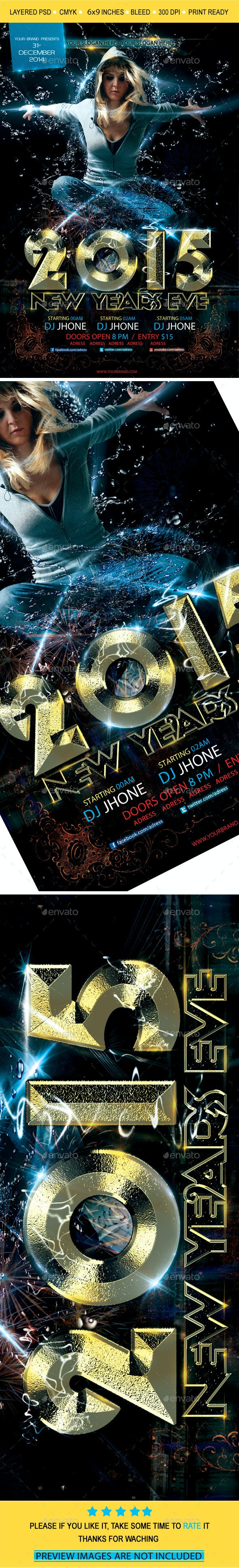 2015 New Year Flyer Template vol2 - Print Templates