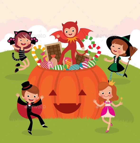 Children at Halloween Party - Halloween Seasons/Holidays