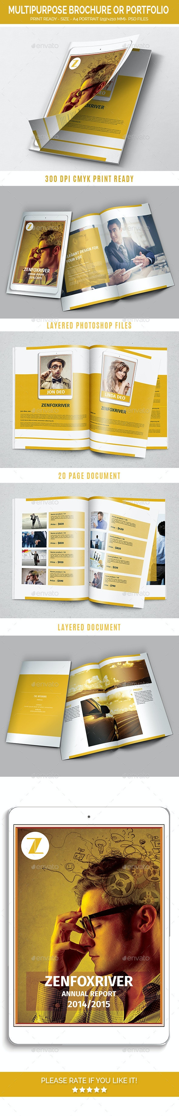 Multipurpose Brochure or Portfolio - Brochures Print Templates