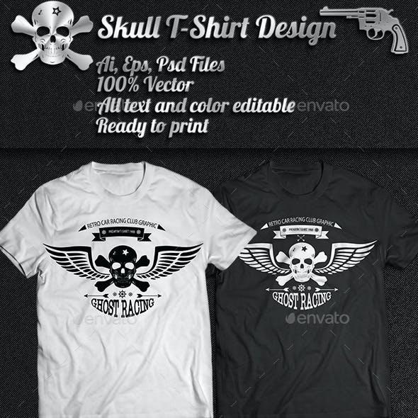 3 Skull T-Shirt Design