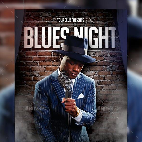 Blues Night Flyer Template