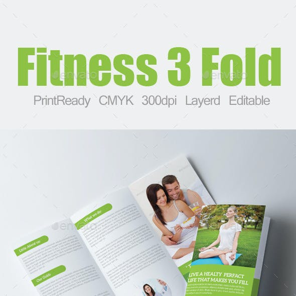 Tri Fold Fitness and Health Care Brochure