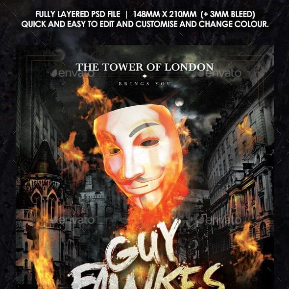 Guy Fawkes Bonfire Flyer
