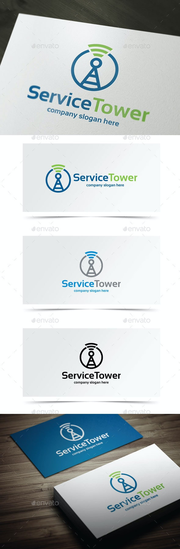 Service Tower - Objects Logo Templates