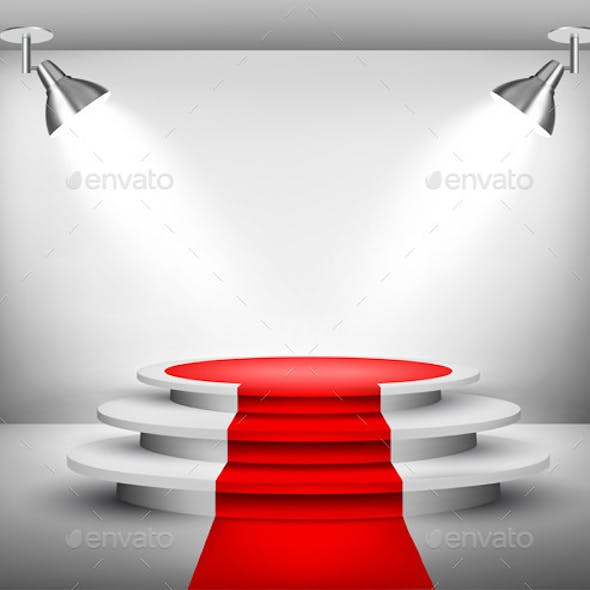 Showroom with Red Carpet