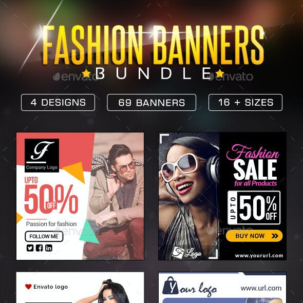 Fashion Sale Banner Design Bundle - 4 sets