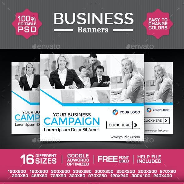 Business Web Banner Design Set