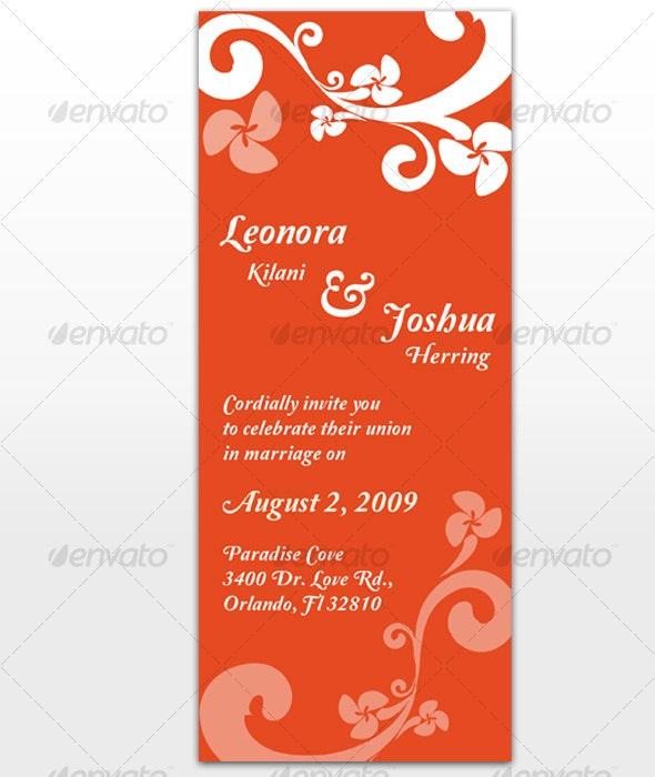 Paradise Wedding Invitation - Weddings Cards & Invites