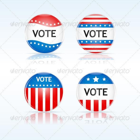 Vote Badges - Decorative Vectors