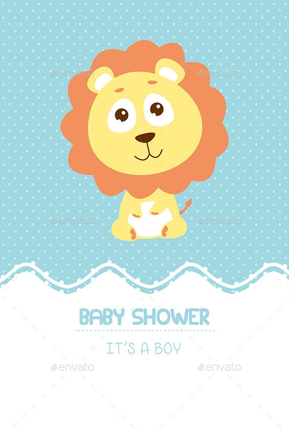 Baby Shower Invitation Card - Decorative Vectors