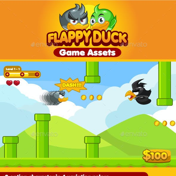 Flappy Duck Game Assets