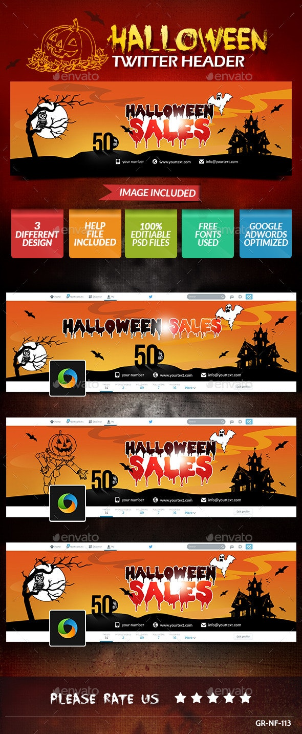Halloween Twitter Header - Twitter Social Media