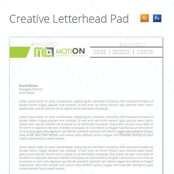Creative Letterhead Pad