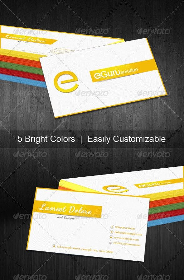 Eguru Business Card - Corporate Business Cards