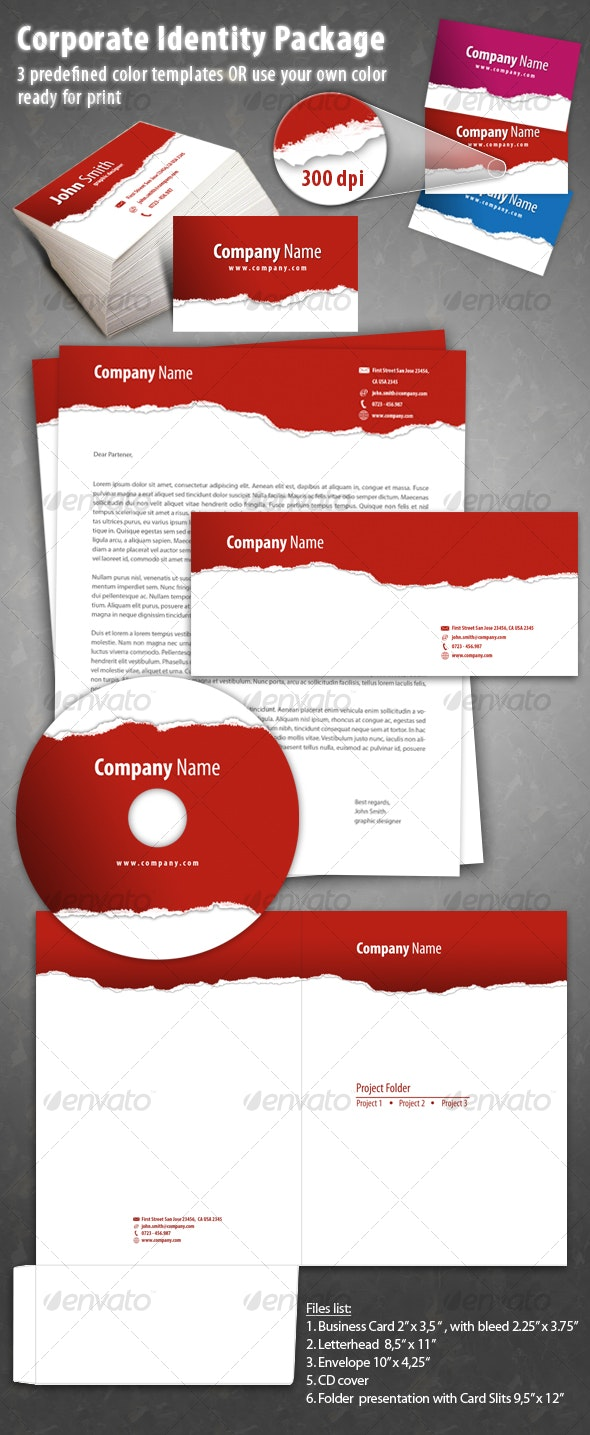 Corporate Identity 5 pack High quality print ready - Miscellaneous Print Templates