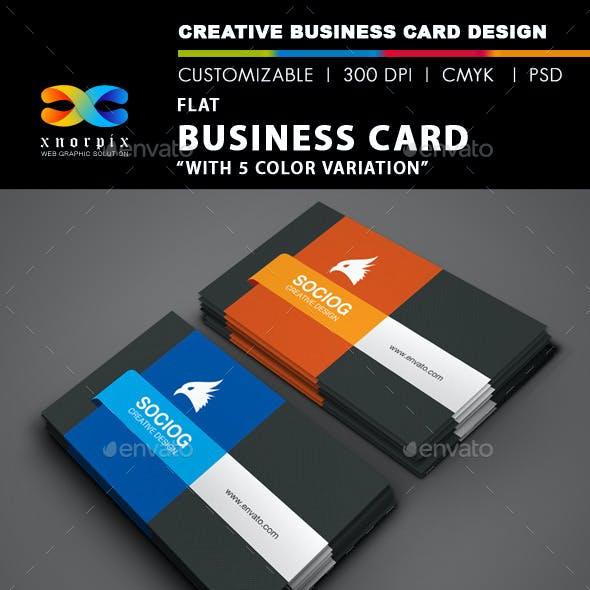 Flat Business Card