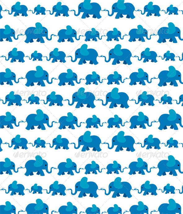 Baby Elephants  - Patterns Decorative