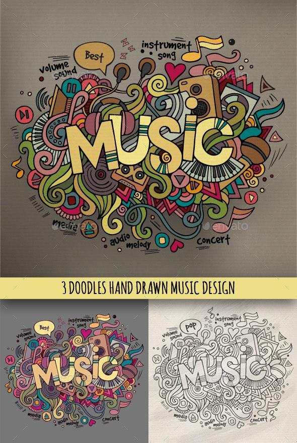 3 Music Doodles Designs - Media Technology