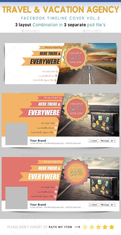 Travel & Vacation Timeline Vol.3 - Facebook Timeline Covers Social Media