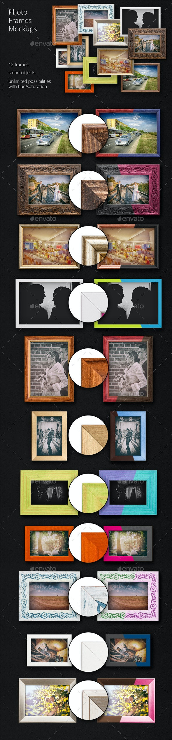 11 Photo Frame Mockups - Photo Templates Graphics