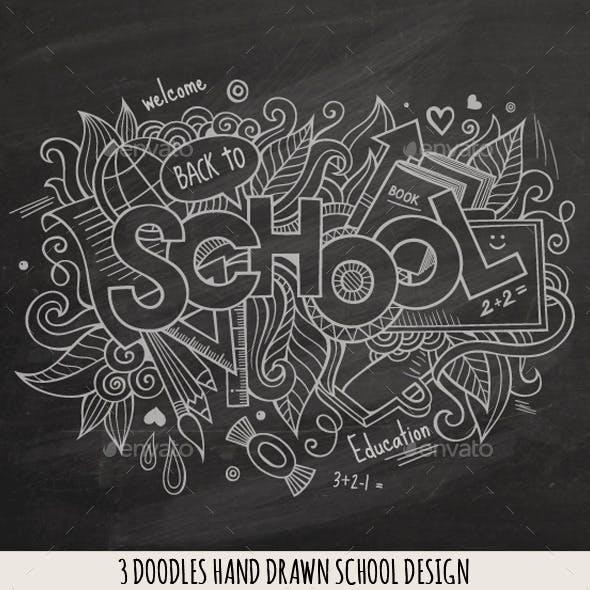3 School Doodles Designs