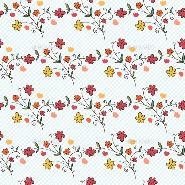 Floral Seamless Pattern - Flowers & Plants Nature