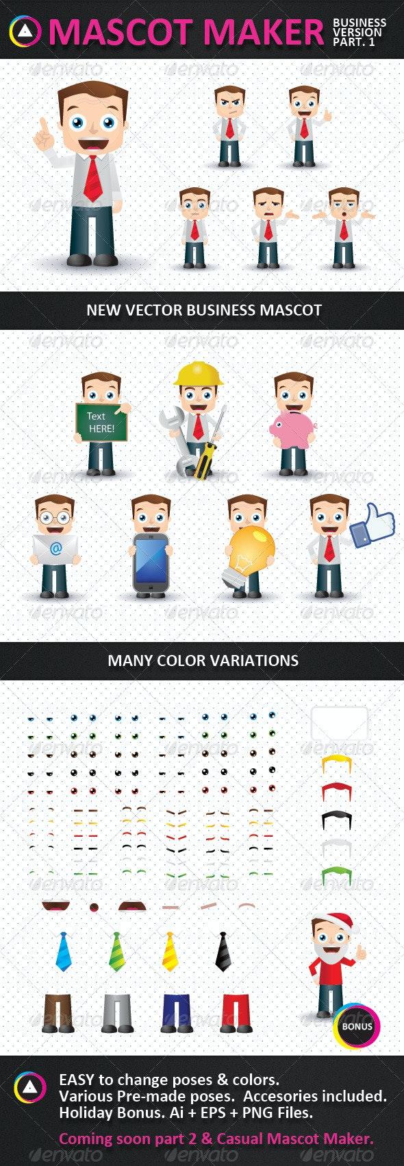 Mascot Maker - Characters Vectors