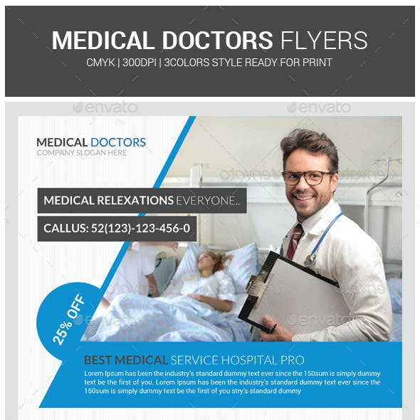 Medical Doctor Psd Flyer Template